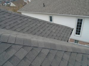 A newly renovated roof